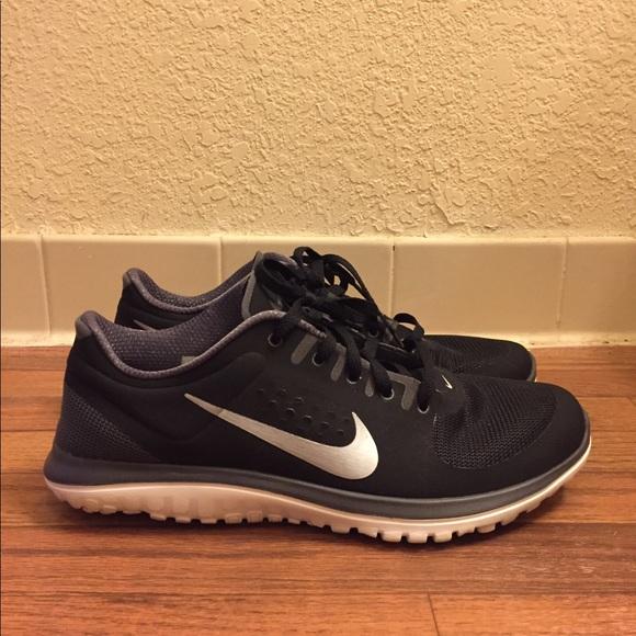 Nike FS Lite Run Black White Grey Men's Size 11.5
